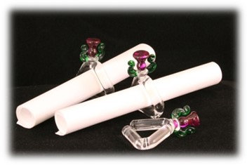 Thistle Scroll Ring Holders