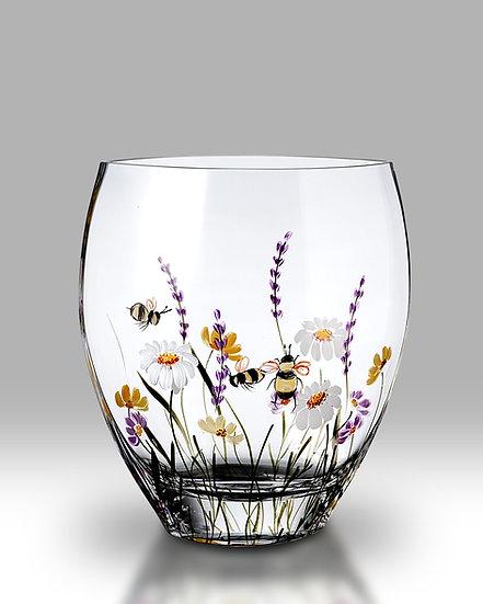 Bees & Blooms Curved Vase