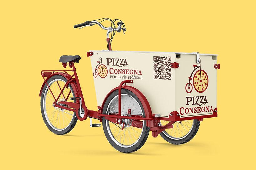 Pizza Consegna Pizza Bike
