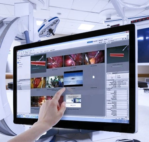 Operating room touch screen