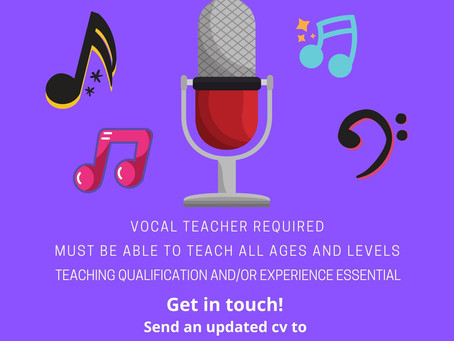 Vocal Teacher Job Opening