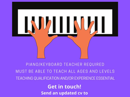 Piano Teacher Job Opening