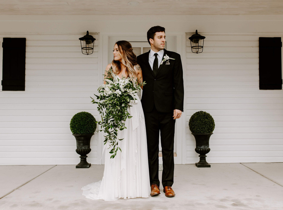 Couple on the Bethany Cottage Front Porch