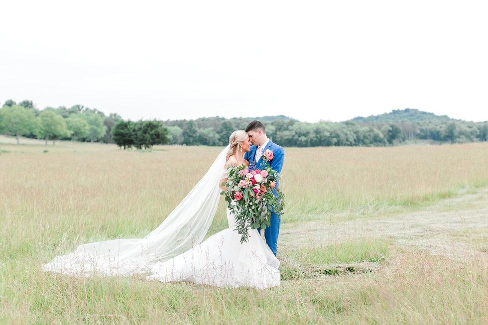 nashville wedding venue bride groom outdoors fields