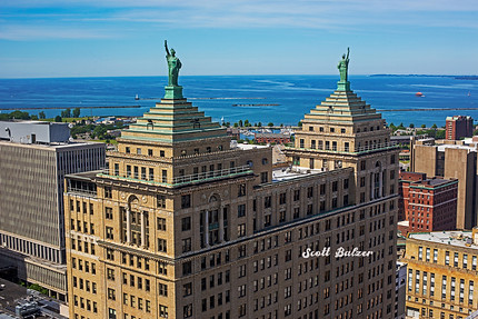 Liberty Building Statues