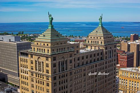Liberty Building Statues