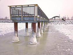 Frozen Gallagher Pier