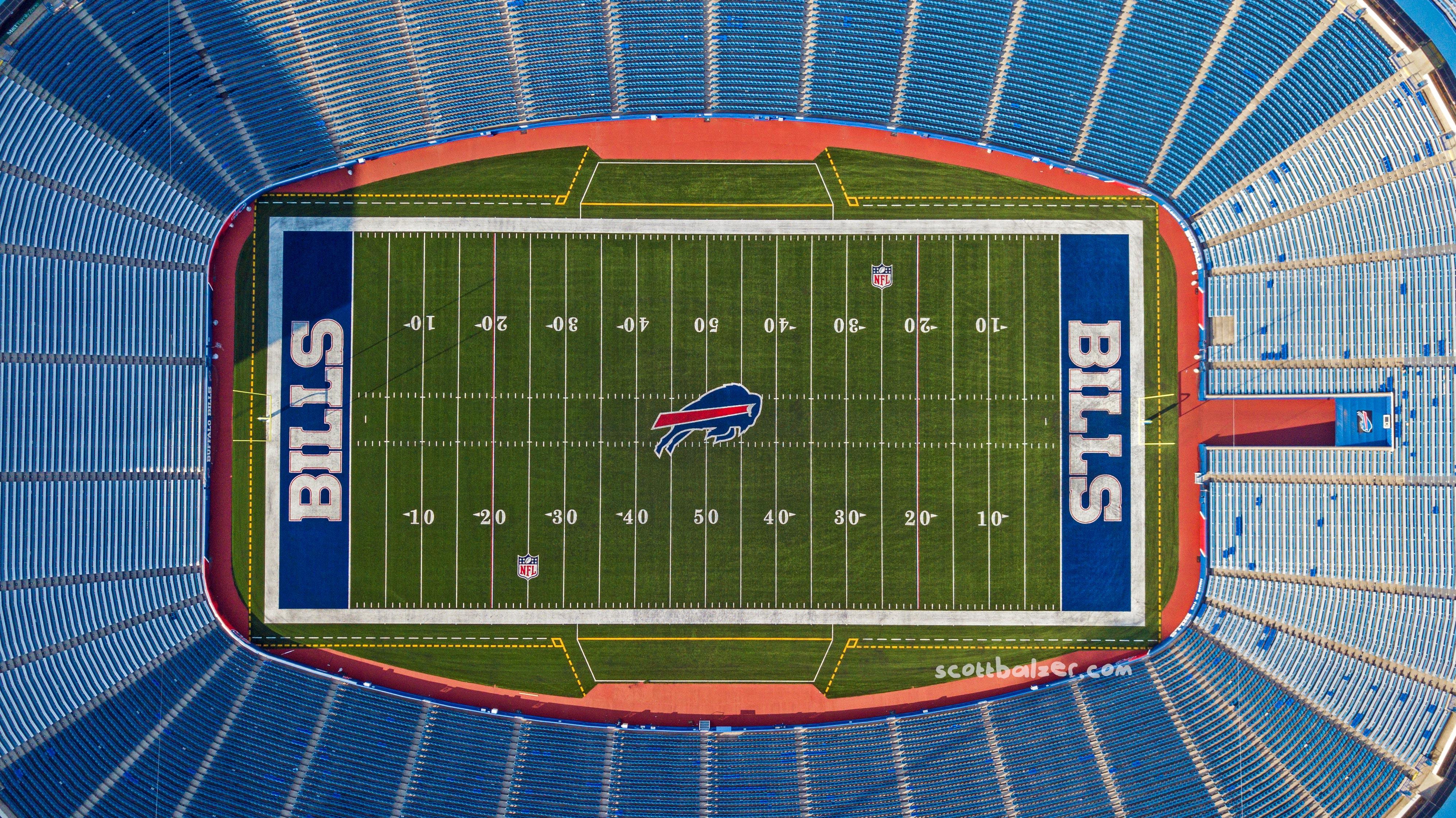 Bills Stadium Overhead Horizontal