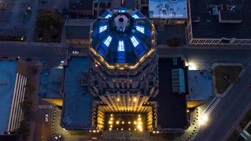 City Hall Blue Lights #1