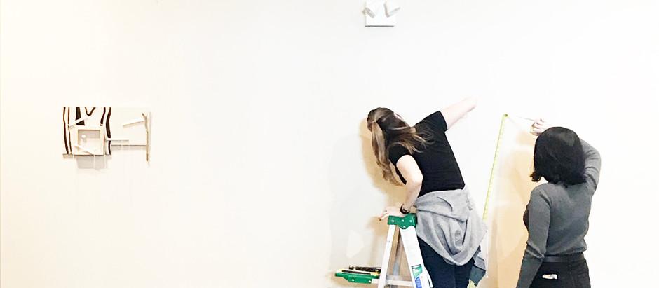 Precipice, Solo Exhibition, Installation Day
