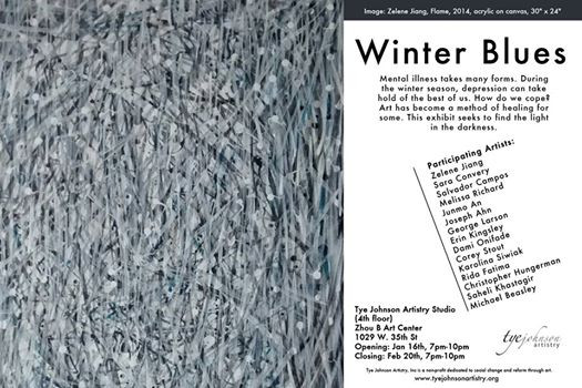 Featured in Winter Blues Exhibition Poster