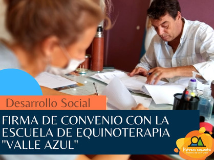CONVENIO CON LA ESCUELA DE EQUINOTERAPIA VALLE AZUL