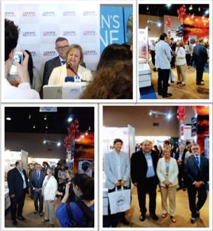 La Ministra de Turismo de Uruguay Inauguró la Feria ExpoViajes