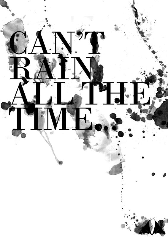 an't Rain Typography