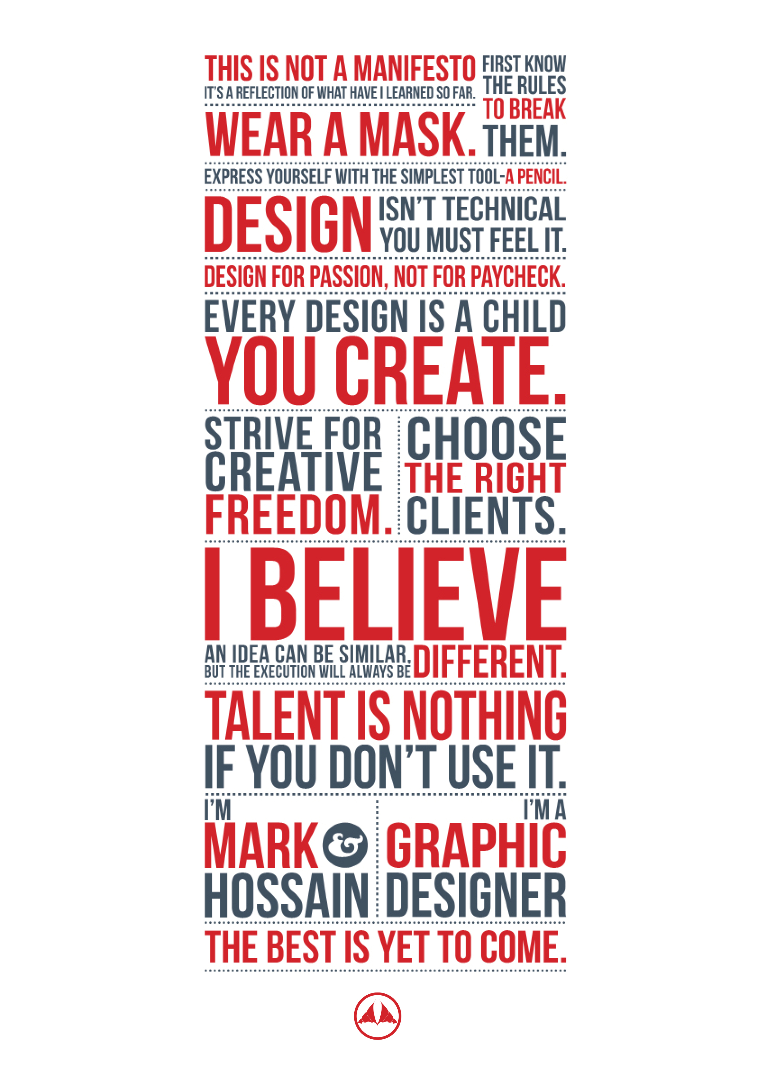 My manifesto -A3