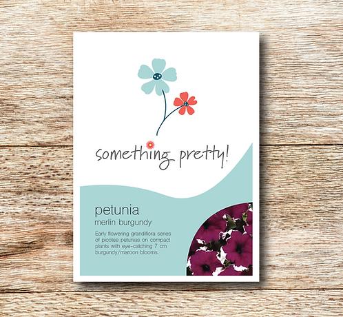 Petunia Merlin Burgundy Seeds