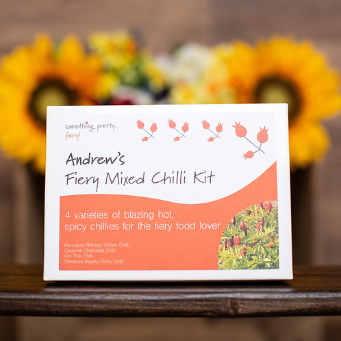 Personalised Something Pretty Fiery Mixed Chilli Gift Set
