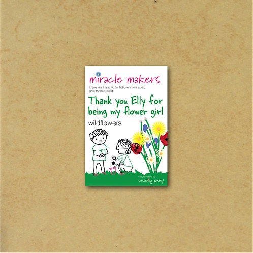 Flower Girl Thank You Gift - Wildflower Seeds