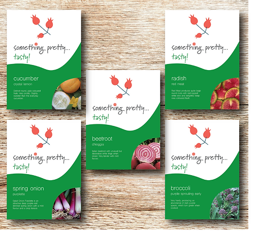Quirky, Colourful Vegetable Seeds Mixed Pack