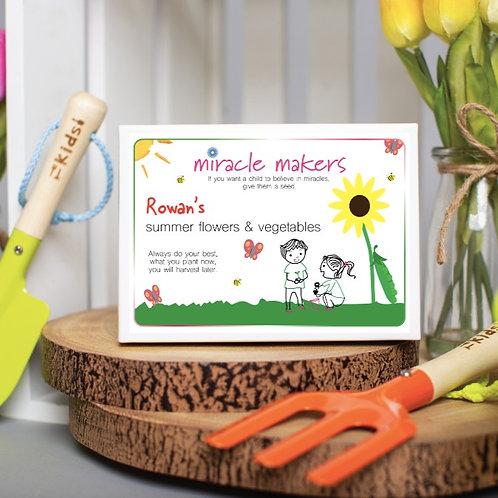 Children's Vegetable & Summer Flower Seeds Gift Set