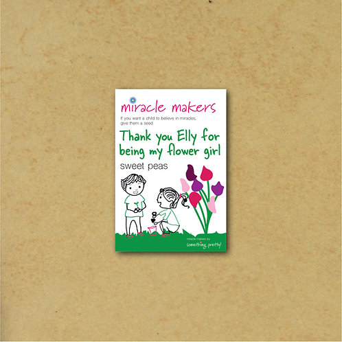Flower Girl Thank You Gift - Sweet Pea Seeds