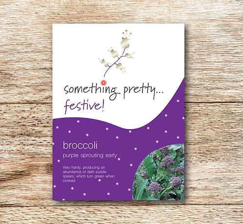 Festive Broccoli (Purple Sprouting Early) Seeds