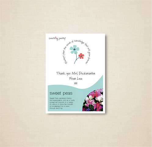 Personalised Thank You Seeds