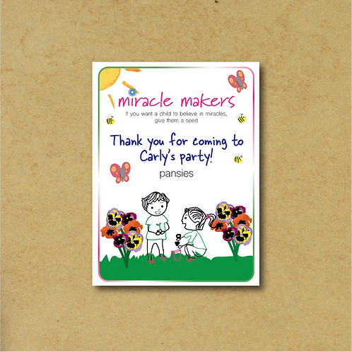 20 Packs Personalised Party Bag Pansy Seeds