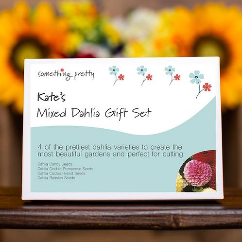 Mixed Dahlia Garden Flower Seeds Gift Pack