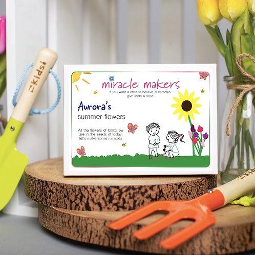 Children's Summer Flower Seeds Gift Set