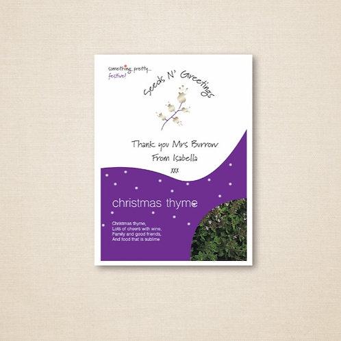 Personalised Seeds N' Greetings Teacher Thank You Christmas Thyme Seeds