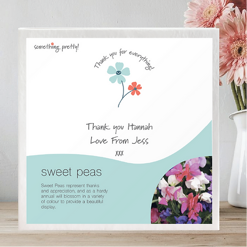 Personalised Thank You Garden Seed Gift Set