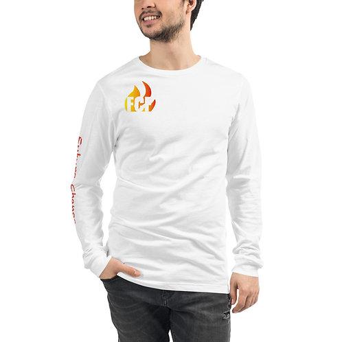 Red Logo Unisex Long Sleeve Tee