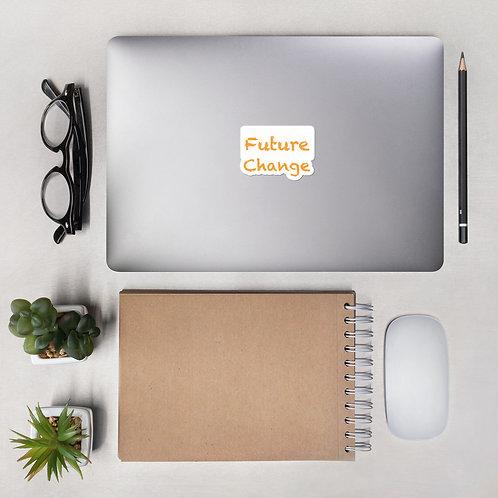 Orange Future Change Stack Bubble-free stickers