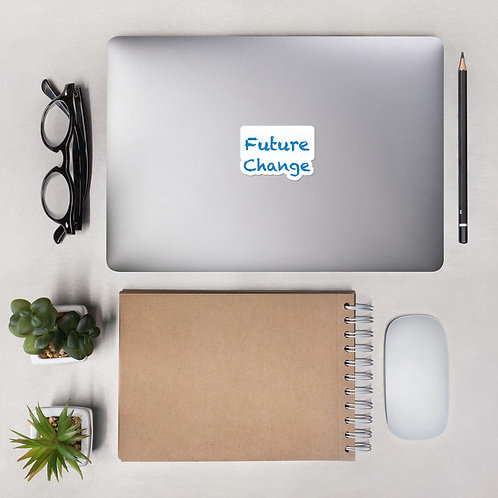 Blue Future Change Stack Bubble-free stickers