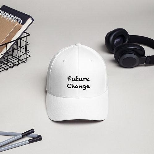 Black Structured Twill Cap