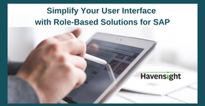 Simplify Your User Interface with Role-Based Solutions for SAP
