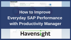 How to Improve Everyday SAP Performance with Productivity Manager