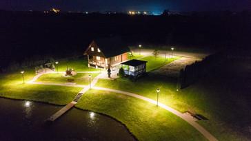 TrioVilla Pirmas namukas vaizdas iš oro nakty