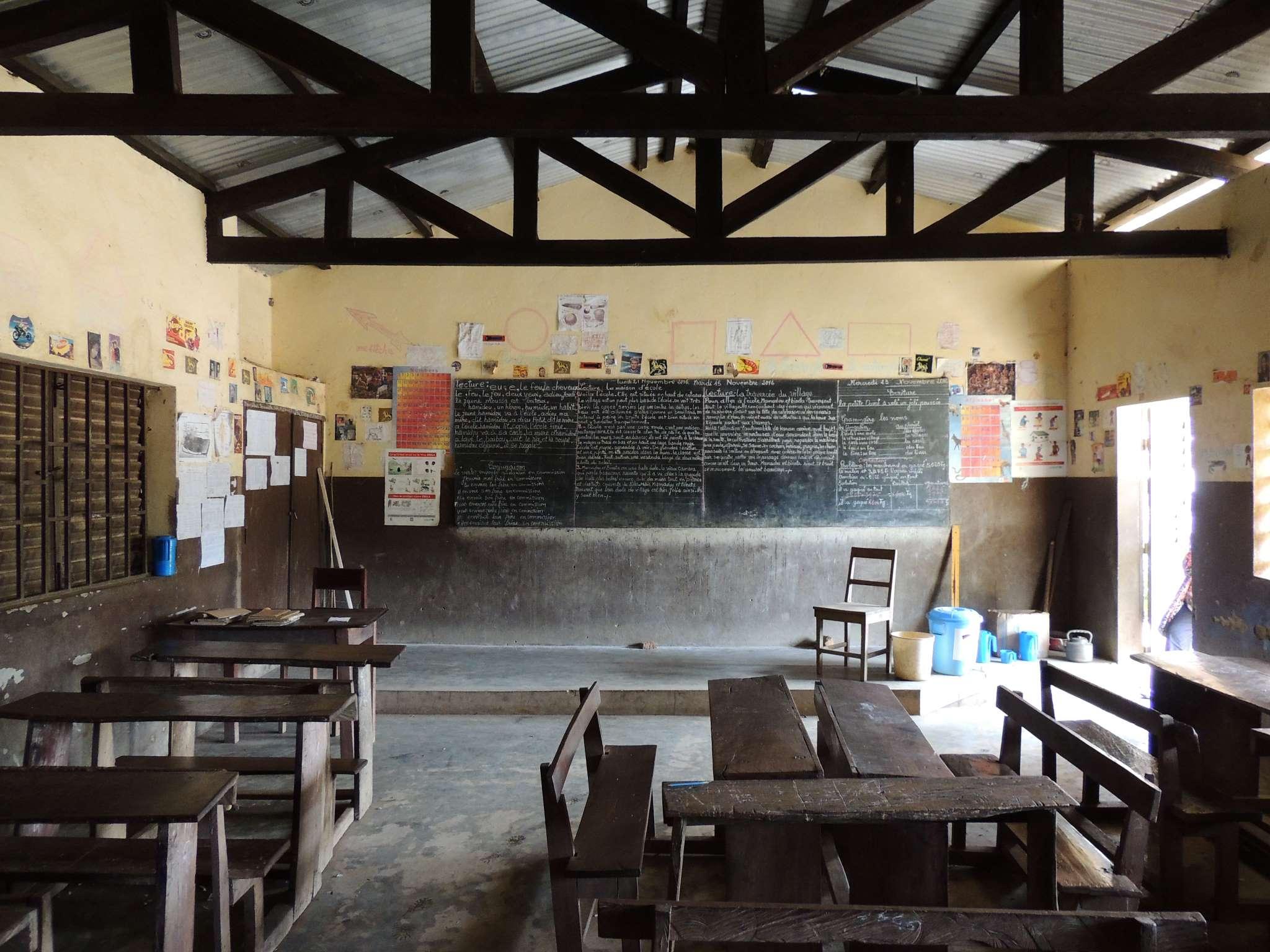 Avant la rénovation d'une salle de classe