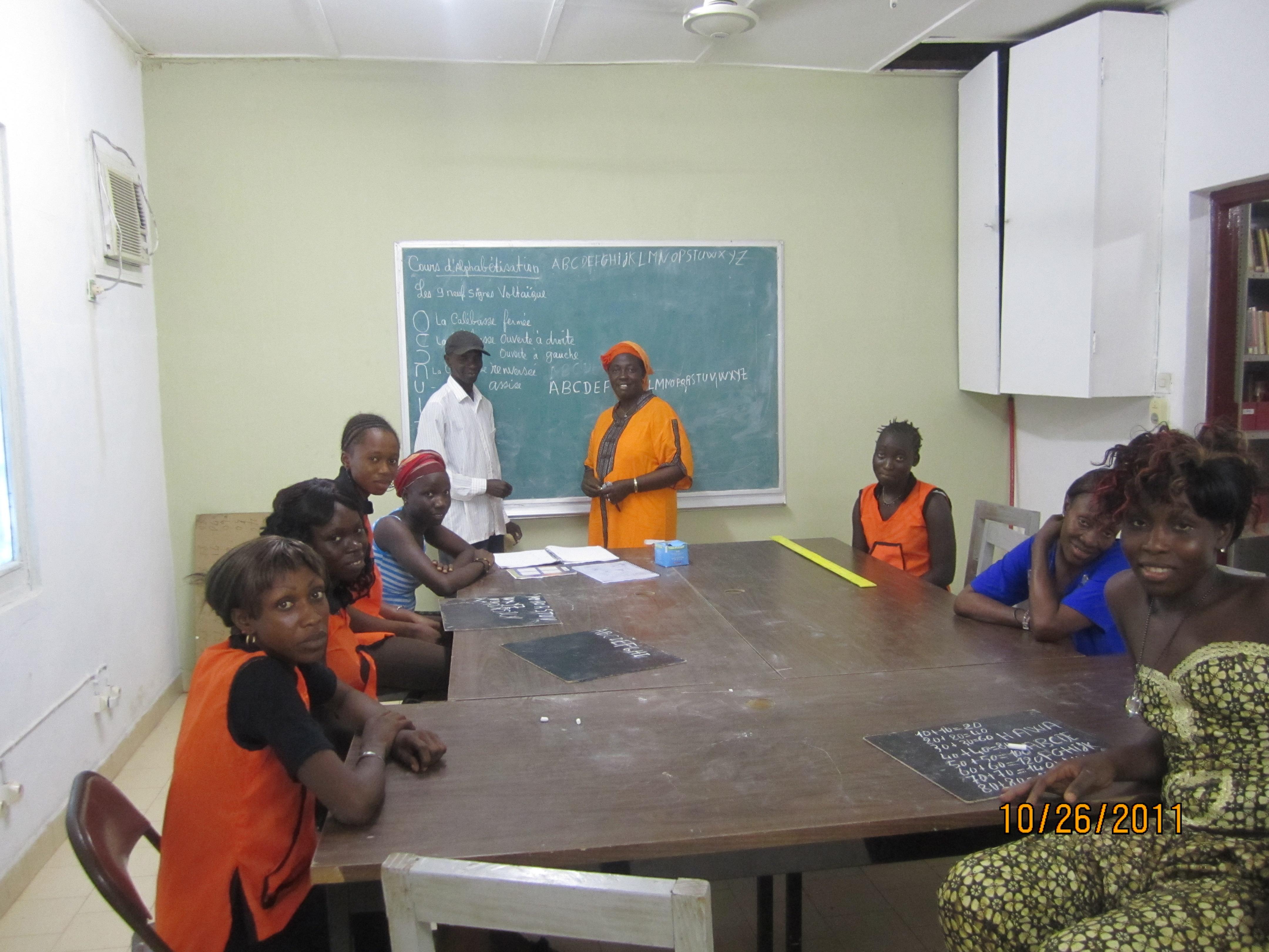 Salle d'alphabétisation