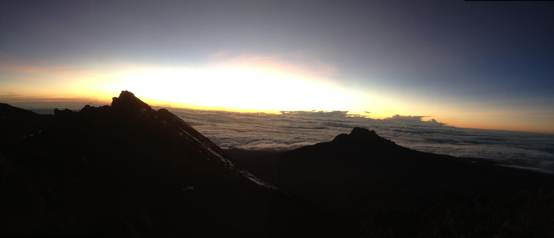 Sunrise at the summit of Kilimanjaro