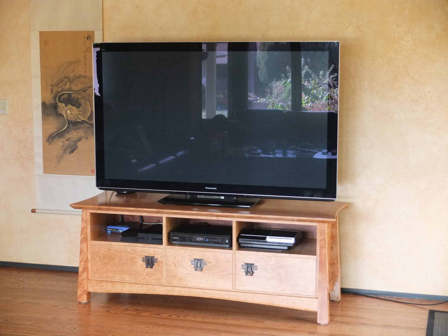 Asian Inspired Arts & Crafts Media Console