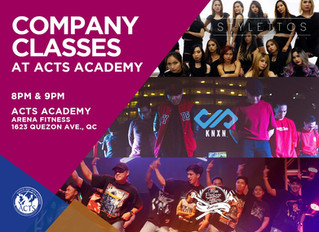 COMPANY CLASS AT ACTS STUDIO THIS AUGUST 2017