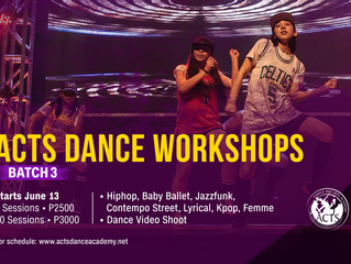 ACTS DANCE WORKSHOPS Batch 3