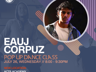 EAUJ IS BACK AGAIN FOR A POP UP CLASS!