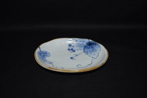 野ぶどうひねり千段楕円小皿