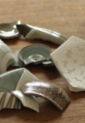 熊本地震で割れた陶片