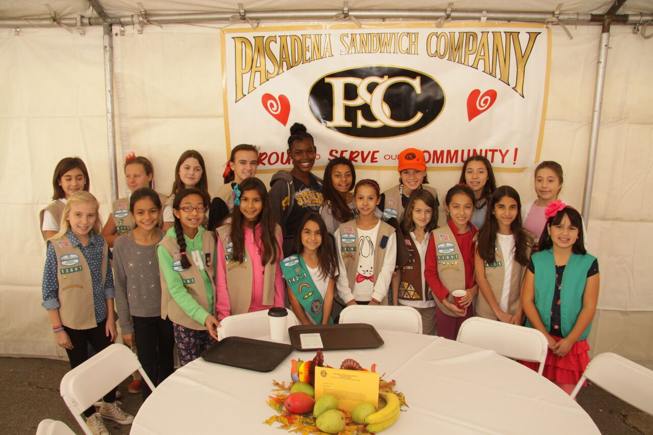 Pasadena PSC Share A Meal Girl Scout