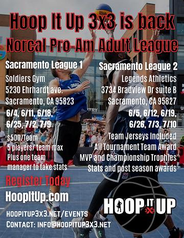Hoop It Up Norcal Pro-Am Adult League (1